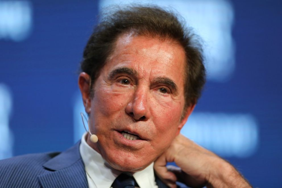 Steve Wynn, chairman and CEO of Wynn Resorts, speaks during the Milken Institute Global Conference in Beverly Hills, California, May 3, 2017. (Mike Blake / Reuters file)