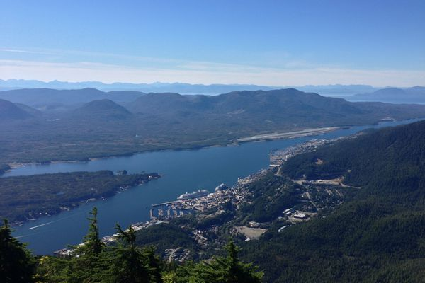 A view of Ketchikan, looking northwest from the summit of Deer Mountain. (Wikimedia Commons)