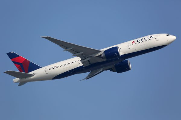 A Delta Air Lines Boeing 777-200LR takes off from Hong Kong International Airport (HKG) in China. iStock / Getty Images