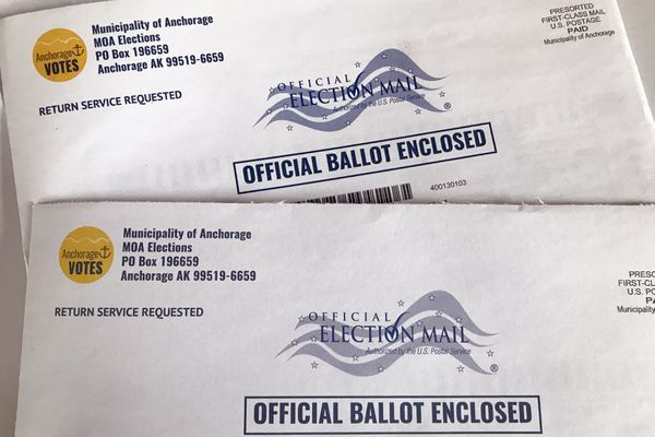 Municipality of Anchorage mail-in ballots for spring 2020 election. (Anne Raup / ADN)