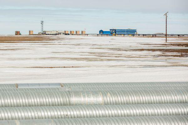 Facilities at Prudhoe Bay's East Dock on Alaska's North Slope on Friday, May 22, 2015. (Loren Holmes / Alaska Dispatch News)