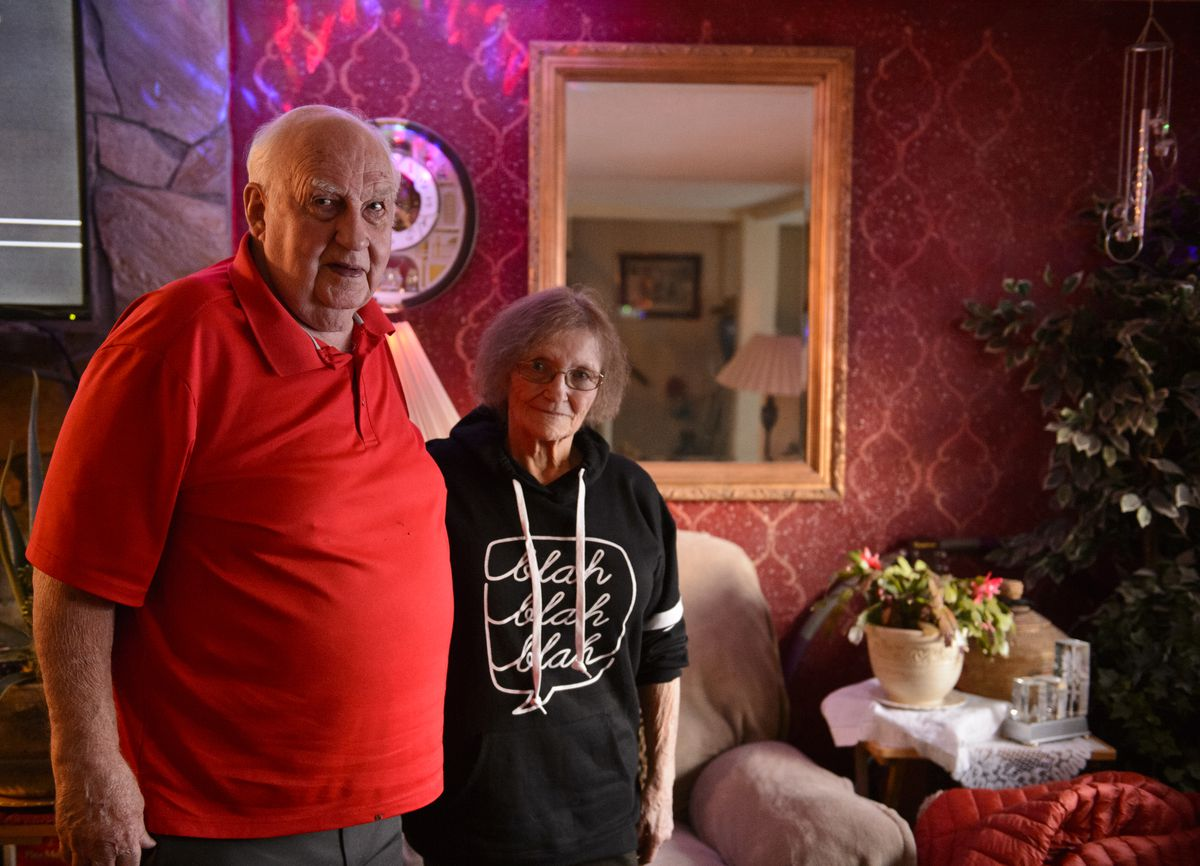 Jerry Smith and Kristie Hocking were married in 1958 and divorced in 1959. In 2009, they reconnected. They live together in Midtown. (Marc Lester / Alaska Dispatch News)