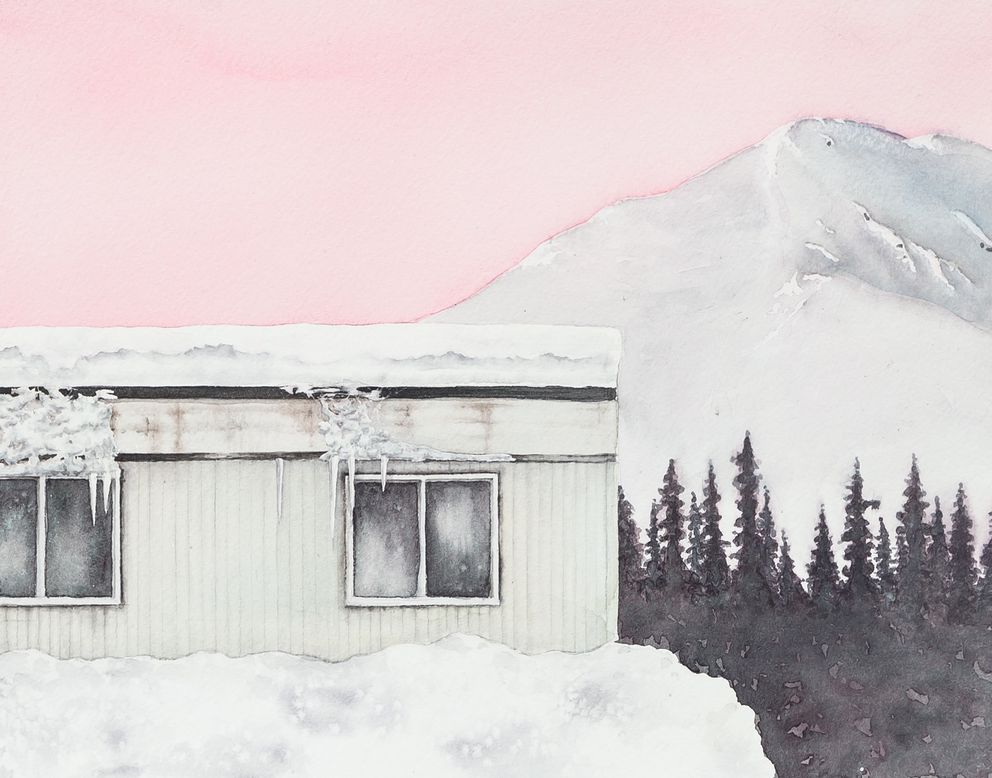 Painting of Alaska's weathered exterior from Robin Farmer.