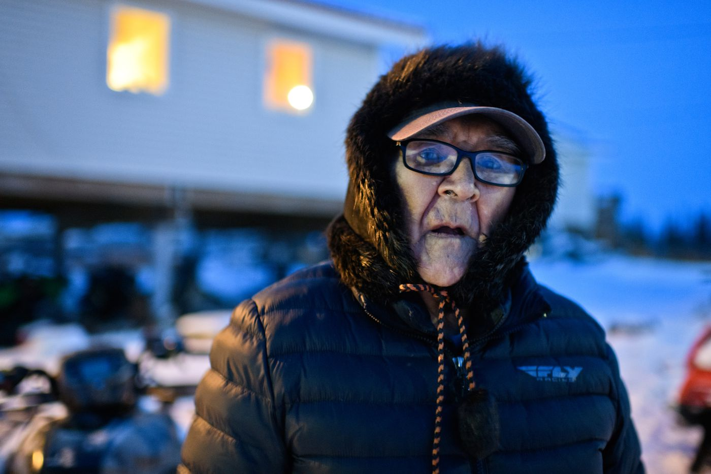 Charlie Nazuruk, 78, photographed in Noorvik on December 2, 2018. (Marc Lester / ADN)