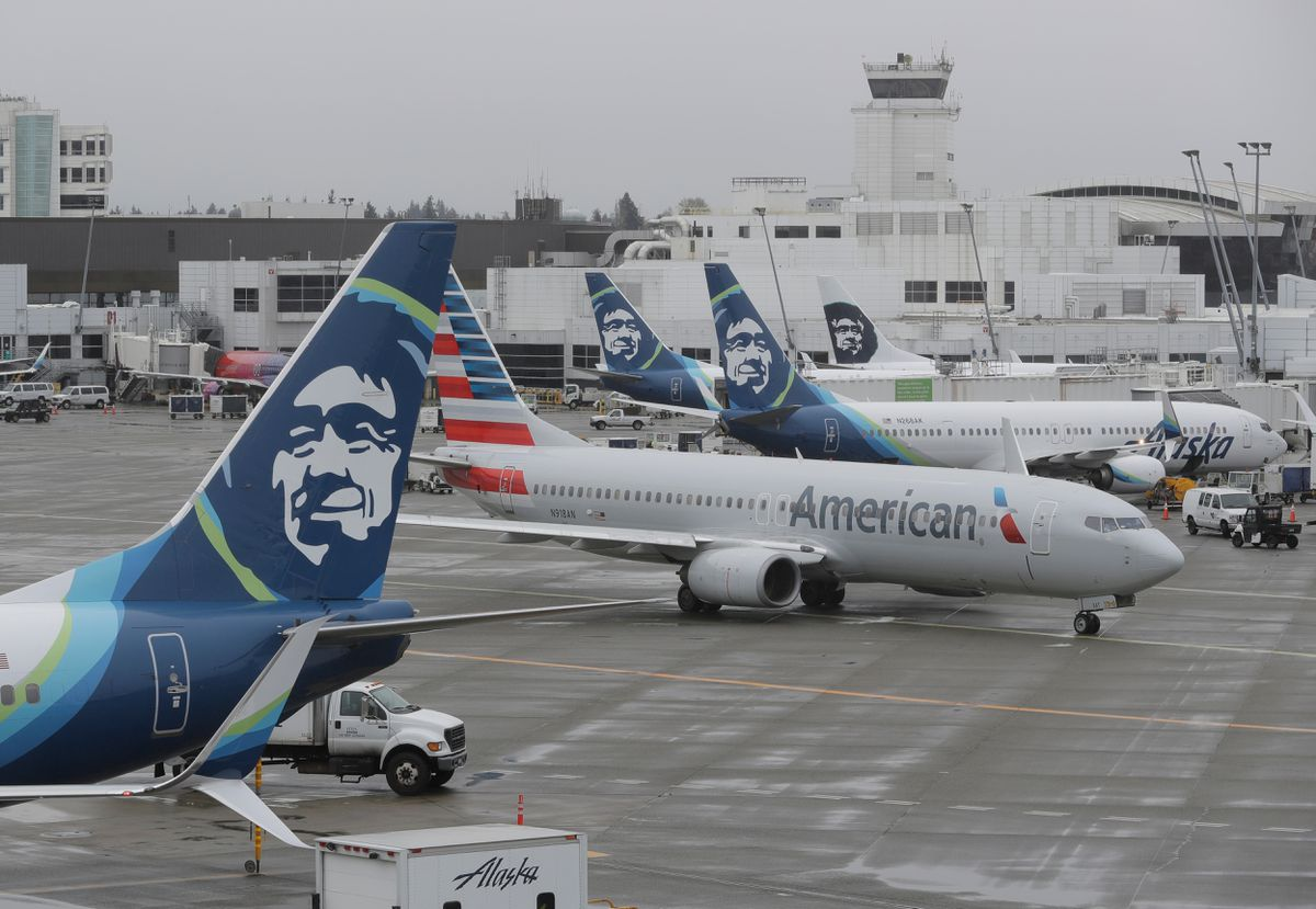Image result for alaska airlines american airlines