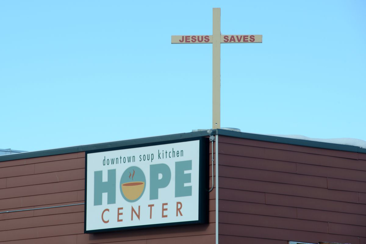 The downtown soup kitchen Hope Center provides a women's shelter, job skills training, meal, launcry and clothing to people in need. (Anne Raup / ADN)