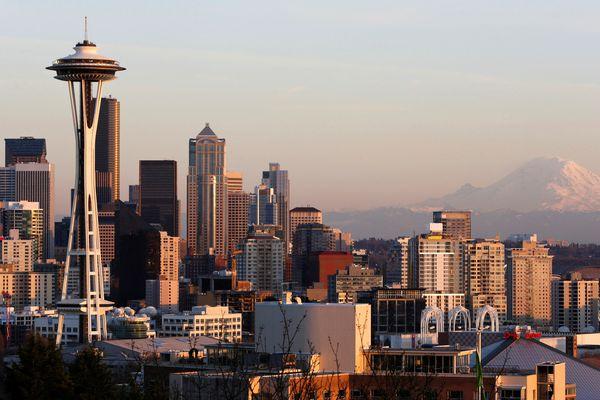 FILE PHOTO: The skyline of Seattle, Washington, U.S. is seen in a picture taken March 12, 2014. REUTERS/Jason Redmond/File Photo