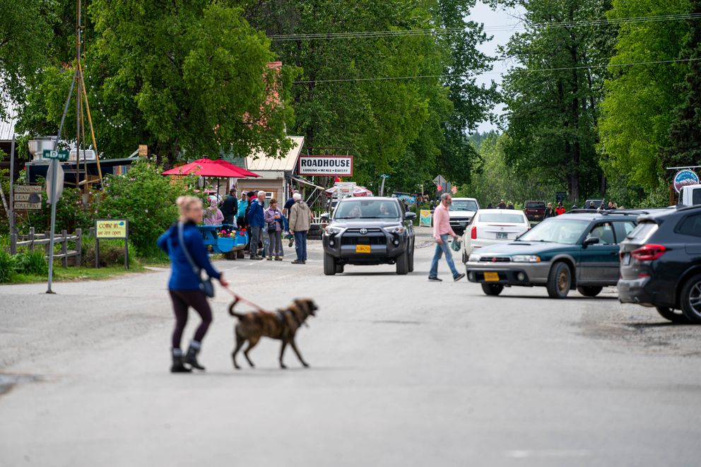 Main Street in Talkeetna on Wednesday, June 9, 2021. (Loren Holmes / ADN)