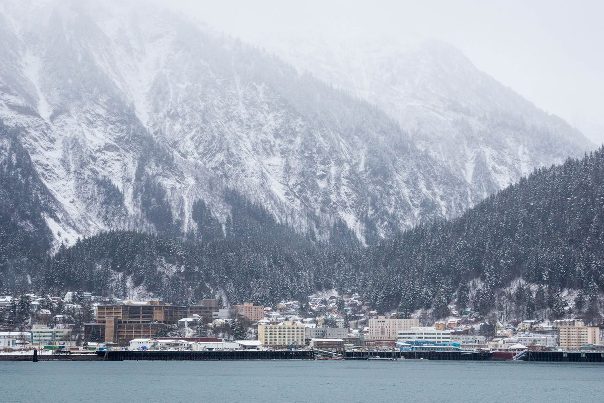 Downtown Juneau, seen from Douglas Island. (ADN file)