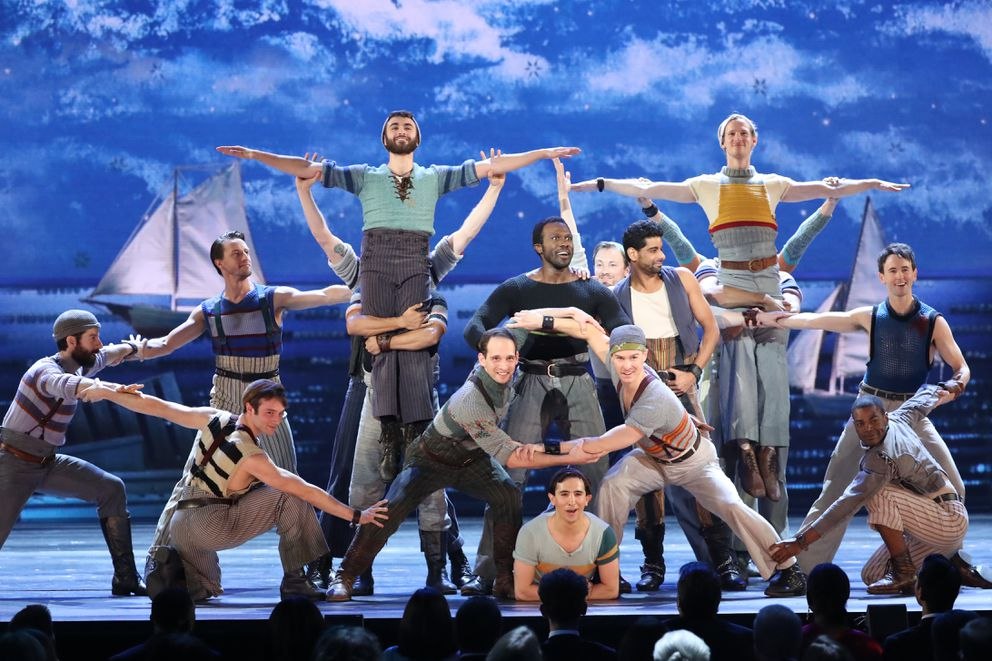 "The cast of ""Rodgers & Hammerstein's Carousel"" performs at the 72nd Annual Tony Awards at Radio City Music Hall in New York, June 10, 2018. (Sara Krulwich/The New York Times)"