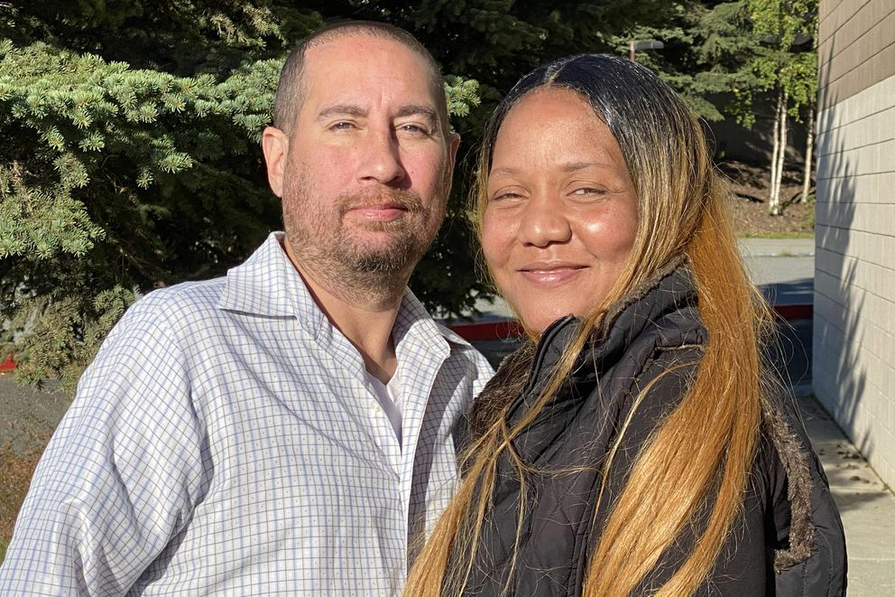 Michael Wood Jr. and Paulette Dunbar recently moved into permanent housing. Photographed Sept. 10, 2020. (Paula Dobbyn / ADN)