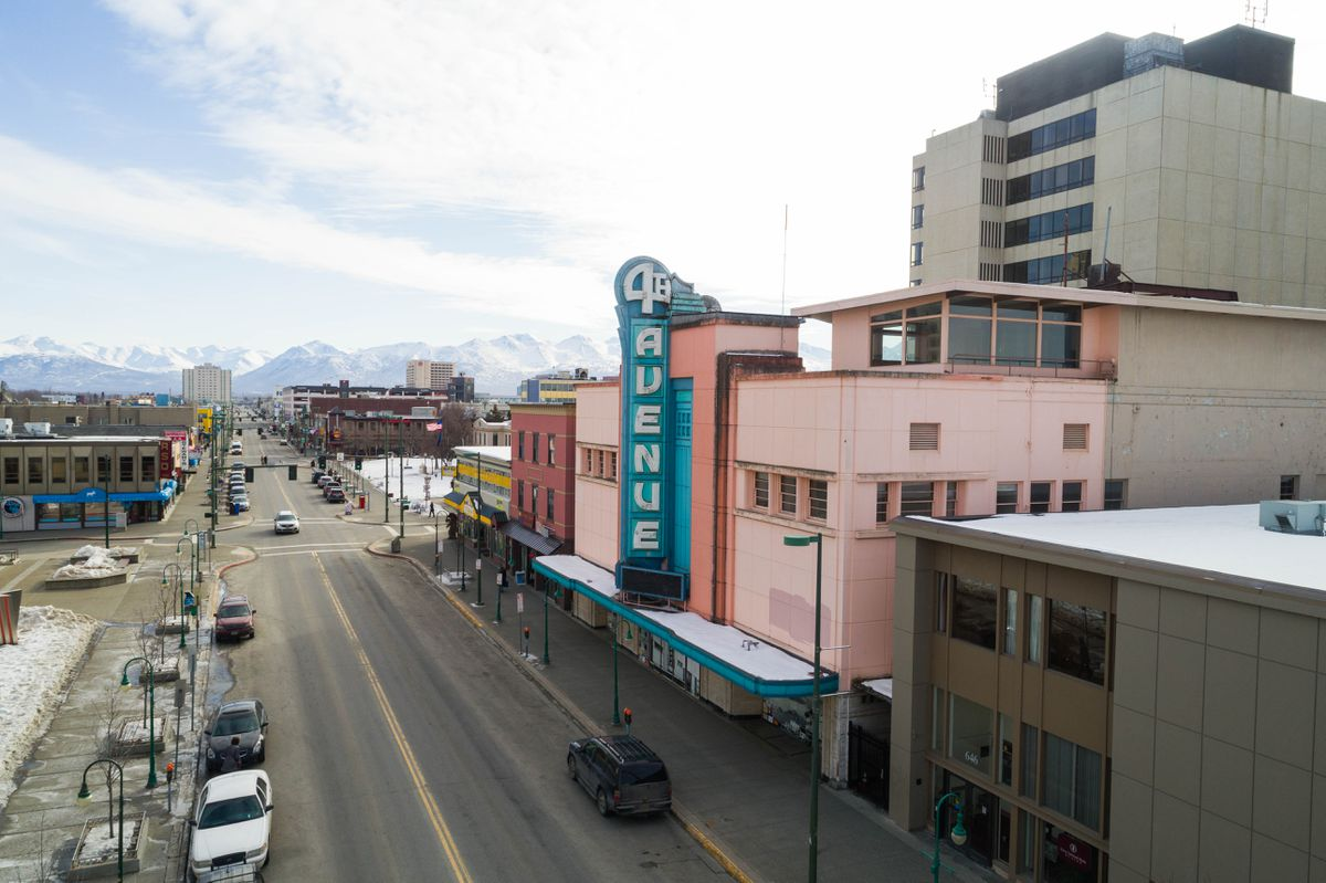 The 4th Avenue Theatre in downtown Anchorage on Tuesday, March 27, 2018. (Loren Holmes / ADN)