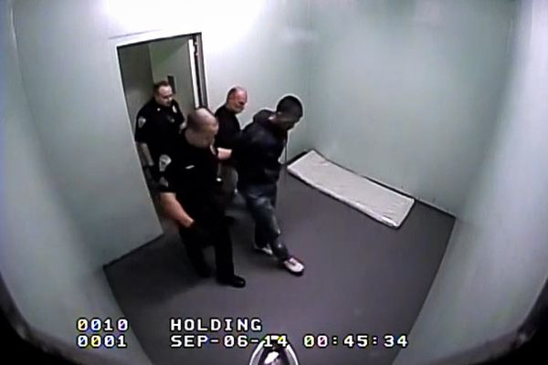 OPINION: Police are not the best at policing themselves; Alaska should have an independent council to investigate complaints. Pictured: Frame from video shows Frank Hoogendorn in custody of Sitka police officers.