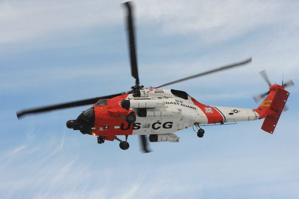 Students at Academy Charter School in Palmer got a visit from a U.S. Coast Guard HH-60T Jayhawk aircrew from Air Station Kodiak on Thursday, Jan. 29, 2015, as part of an intensive called