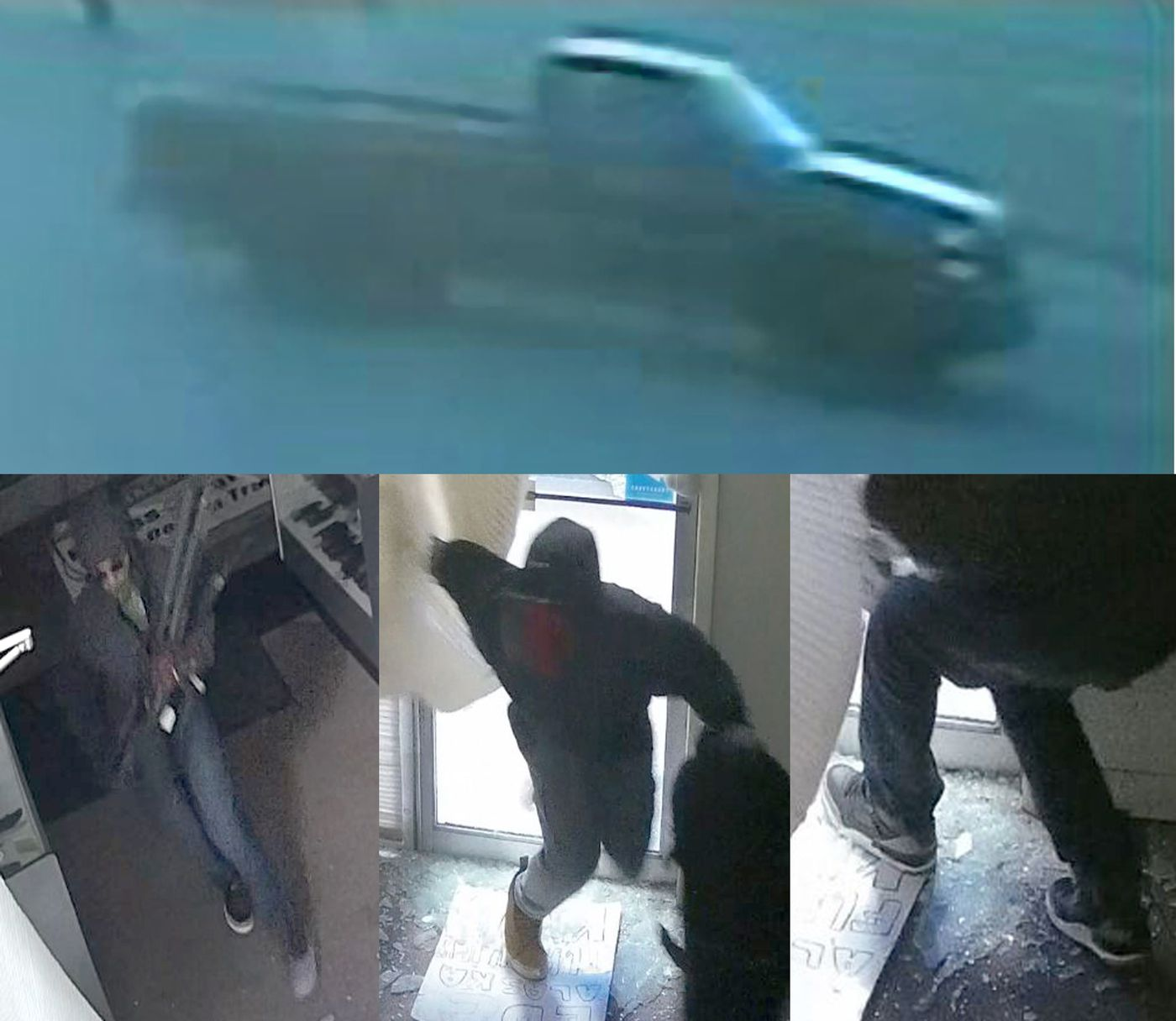 Security cameras at the EDC Alaska gun store  captured images of suspects and their vehicle. (Anchorage Police Department)