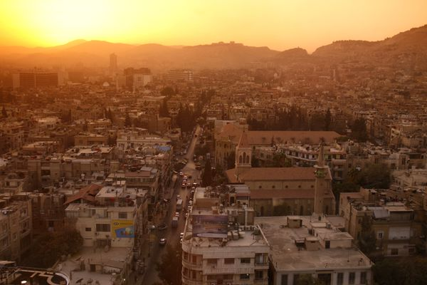 The city center in Damascus, Syria. (Getty Images)