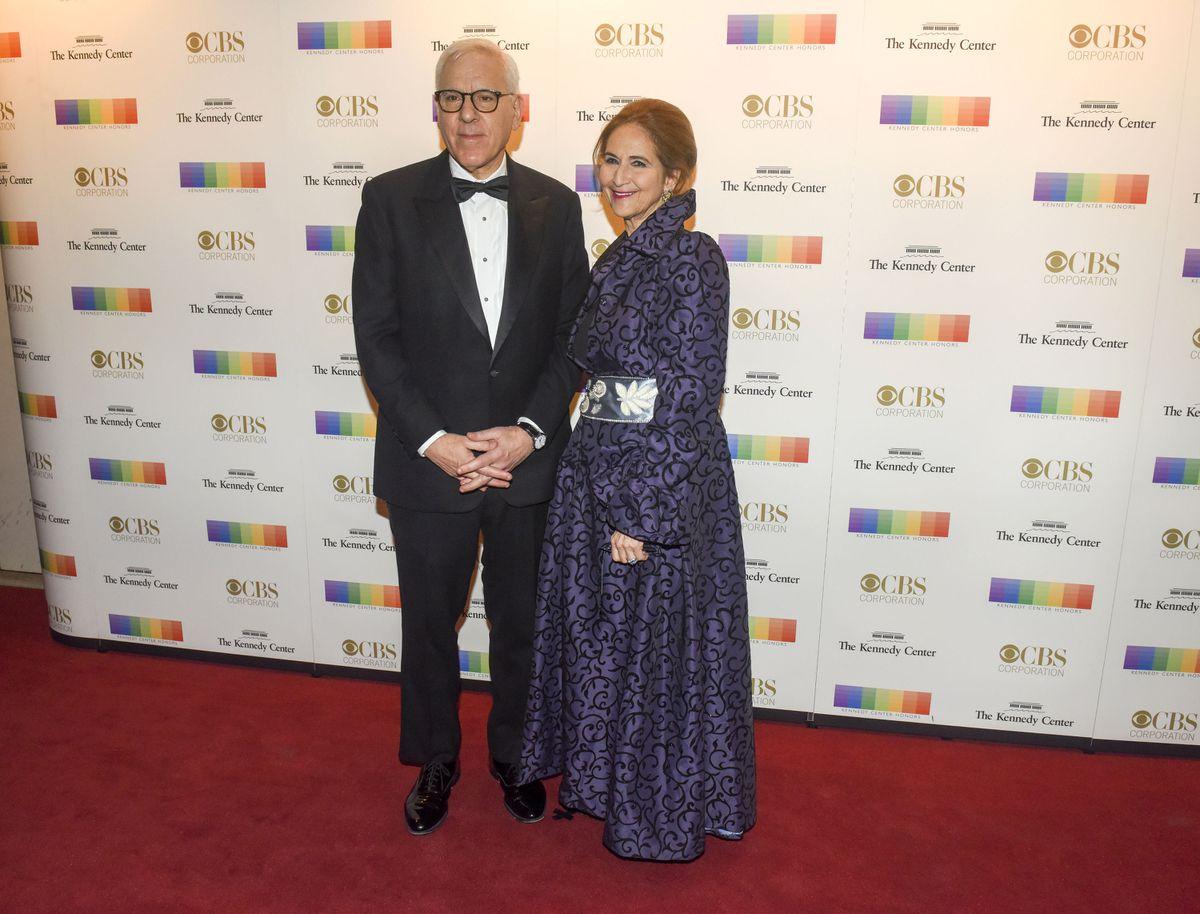 David M. Rubenstein and his wife, Alice Rogoff, at the 2016 Kennedy Center Honors at the Kennedy Center.(Washington Post photo by Jahi Chikwendiu)