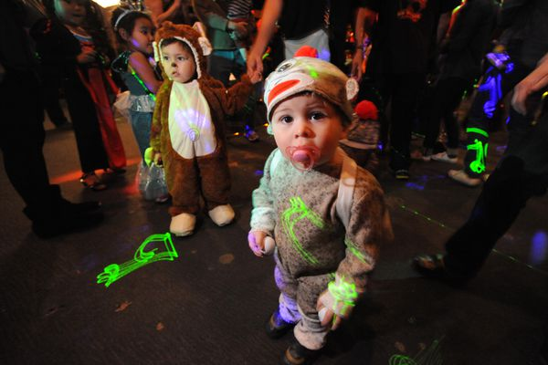 The first-ever Baby Loves Disco event in Alaska was held at the Bear Tooth Theatre on Sunday, Oct. 25, 2015. The Halloween-themed event was for children aged 10 and younger and DJ's Spencer Lee and Vitamone mixed everything from disco classic to current jams. Baby Loves Disco organizer Andy Hurwitz travelled from Philadelphia to celebrate hosting the party in all 50 states. (Bill Roth / Alaska Dispatch News)
