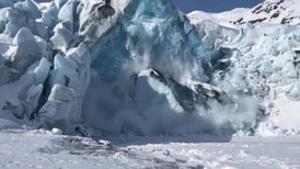'Like slow motion': Anchorage man captures video of massive block of ice calving at Portage Glacier