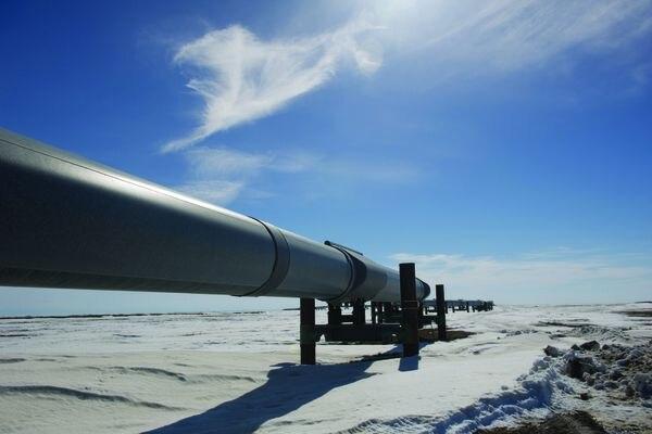 Milepost 0 of the Trans Alaska Pipeline.