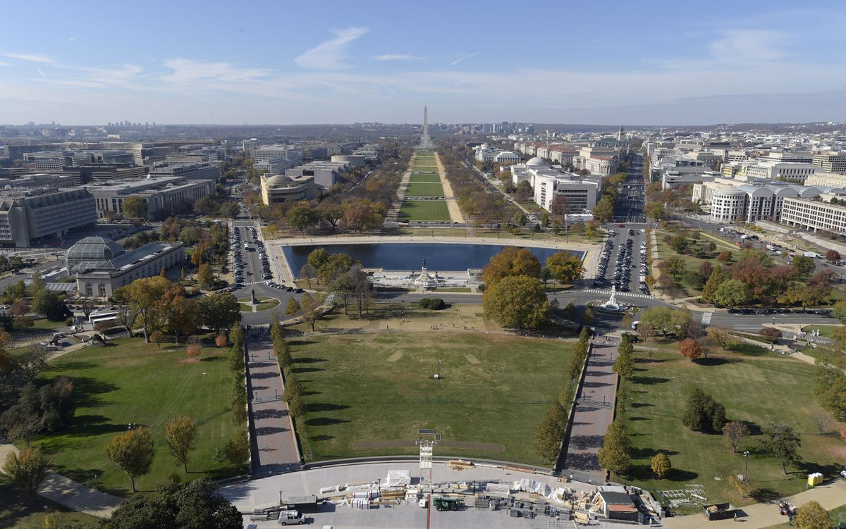 A view of the West Front of Capitol Hill in Washington, looking at the National Mall and Washington Monument, Nov. 15, 2016. (Susan Walsh / AP File)