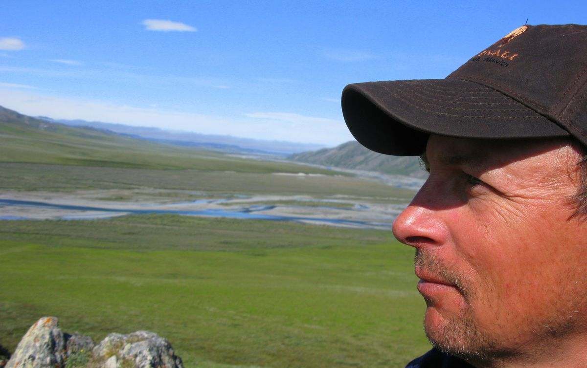Author Nils Warnock on a trip to the Arctic National Wildlife Refuge, near the Kongakut River. (Nils Warnock photo)