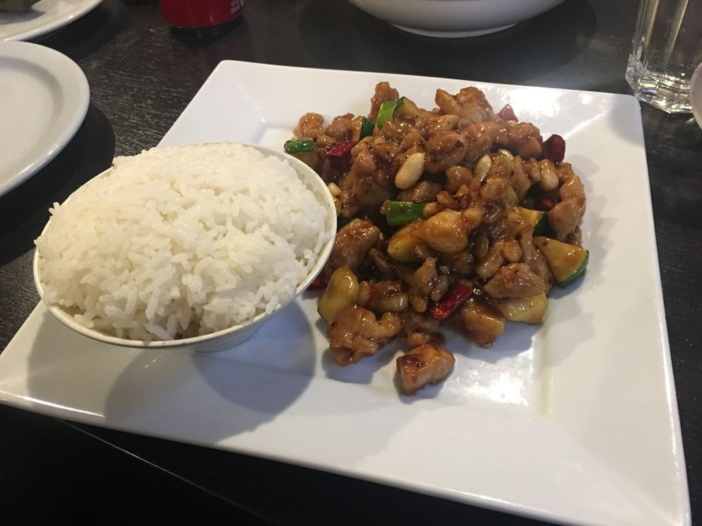 Kung Pao lunch special at Jimmy's Asian Food restaurant in Anchorage. (Mara Severin)