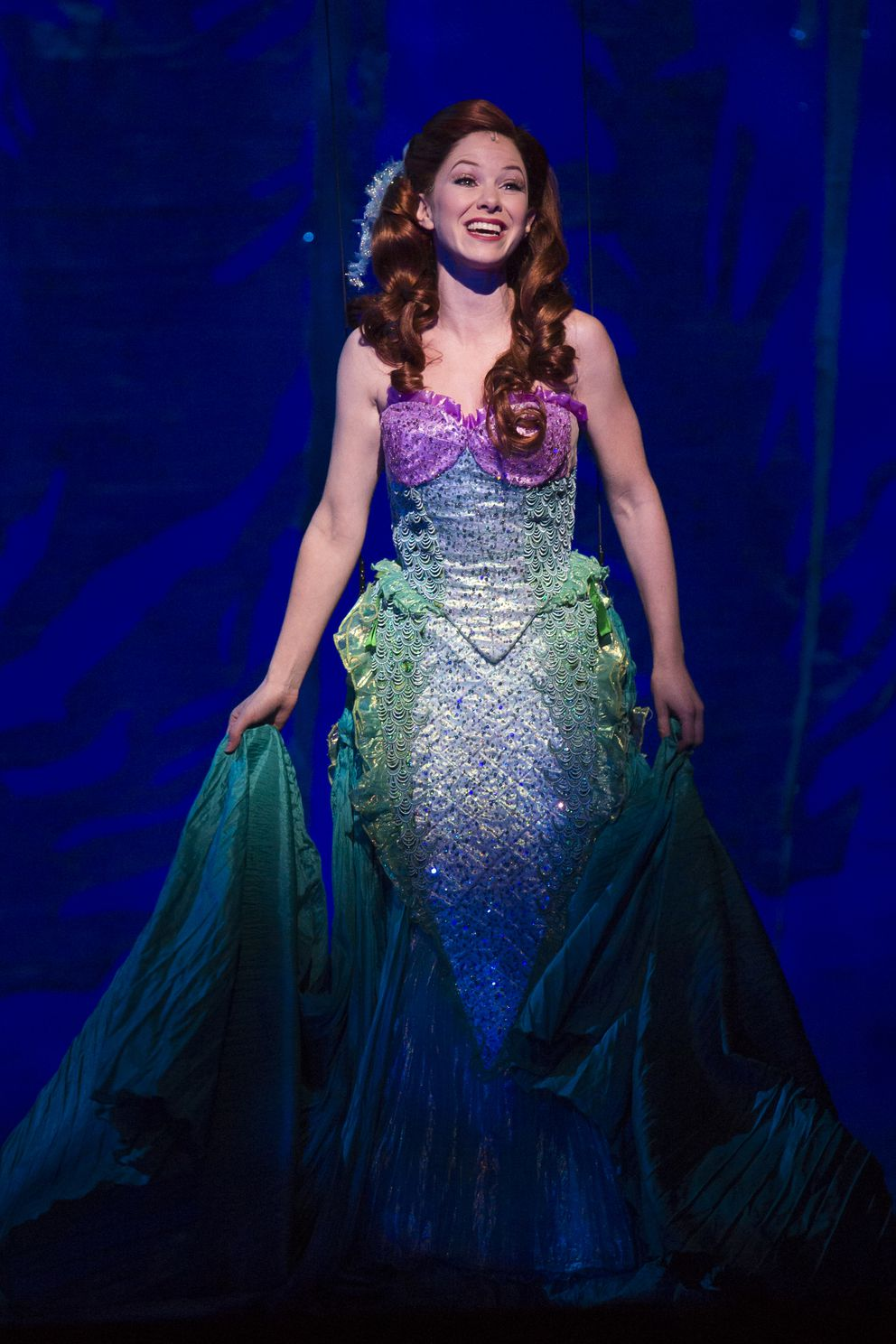 Alison Woods as Ariel (Photo by Bruce Bennett, courtesy of Theatre Under The Stars)