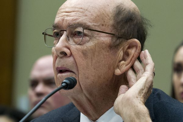 """In this Thursday, March 14, 2019, file photo Commerce Secretary Wilbur Ross testifies during the House Oversight Committee hearing on Capitol Hill in Washington. A third federal judge has blocked the Trump administration from adding a citizenship question to the 2020 census. U.S. District Judge George Hazel in Maryland ruled Friday, April 5, 2019, that the addition of a citizenship question is """"arbitrary and capricious."""" Ross added a citizenship question to the 2020 census. (AP Photo/Jose Luis Magana, File)"""