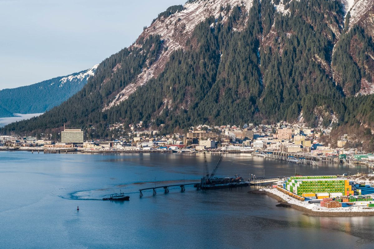 The city of Juneau, photographed on Wednesday, Jan. 16, 2019. (Loren Holmes / ADN)