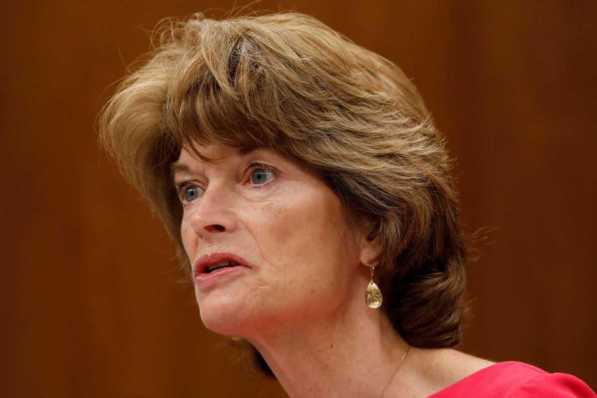 Sen. Lisa Murkowski, R-Alaska, asks a question during a Senate Appropriations Subcommittee on Capitol Hill in Washington, U.S., June 27, 2017. REUTERS/Aaron P. Bernstein