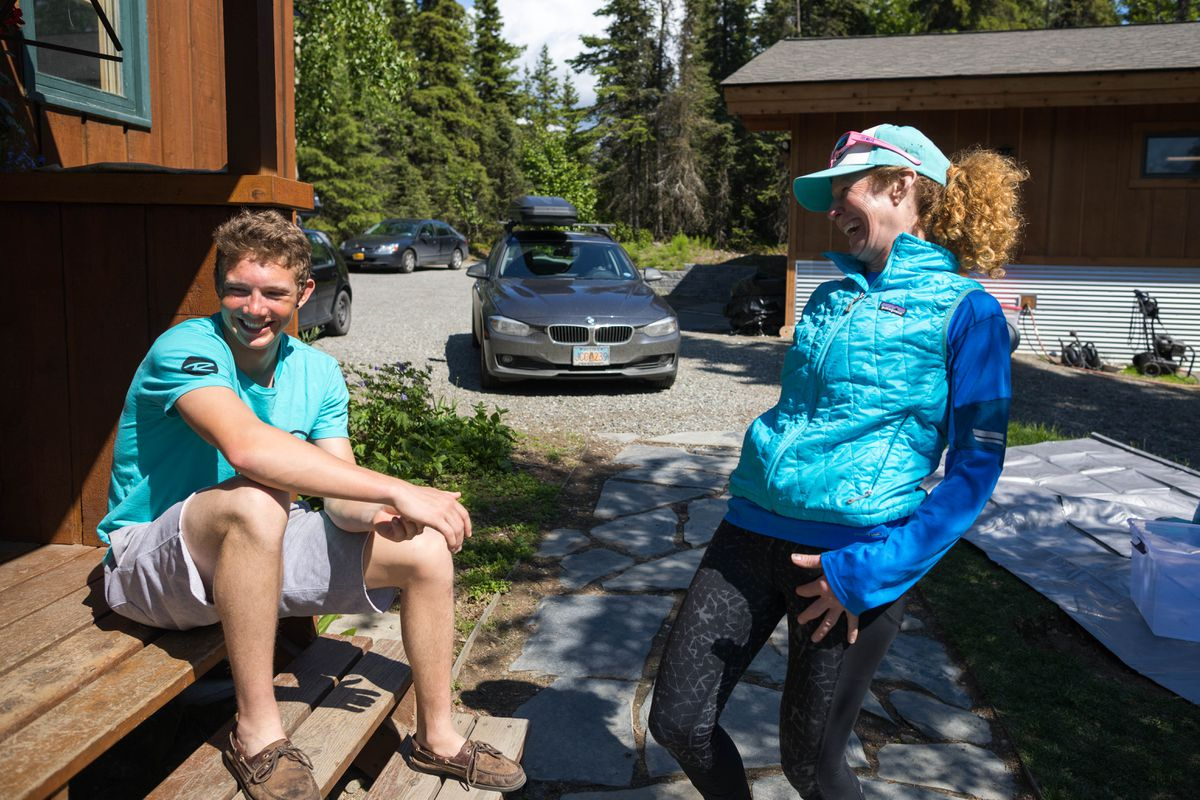Canyon Tobin, 19, and his mom, Nora Miller, tell the story of how they summited Denali together. (Loren Holmes / ADN)