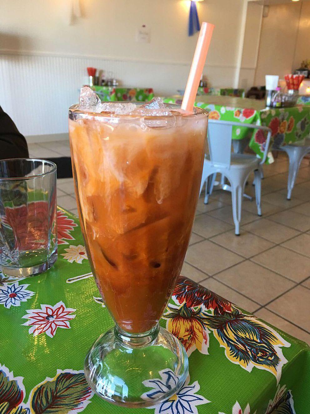 Thai iced tea at So Thai in Anchorage (Photo by Mara Severin)