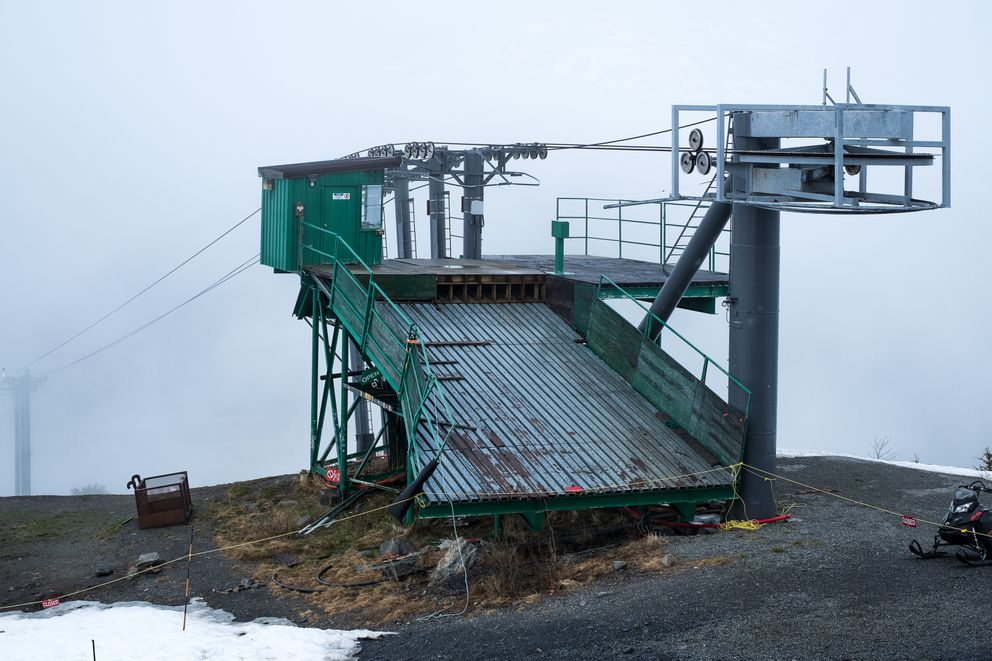 Oldest chairlift and part of history being dismantled at for Chair 7 alyeska