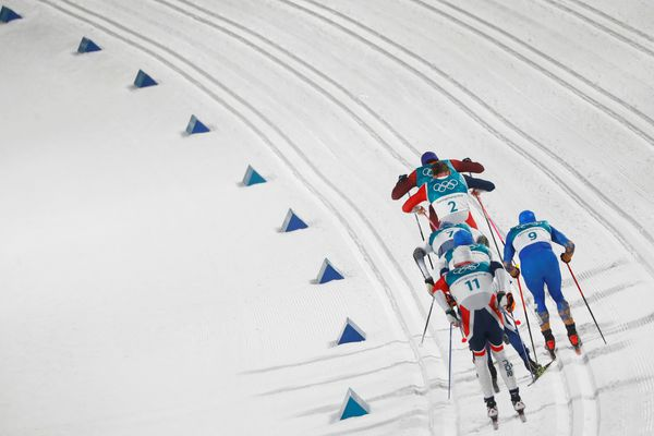 Cross-Country Skiing – Pyeongchang 2018 Winter Olympics – Men's Sprint Classic Finals – Alpensia Cross-Country Skiing Centre – Pyeongchang, South Korea – February 13, 2018 - Athletes compete. REUTERS/Kai Pfaffenbach TPX IMAGES OF THE DAY