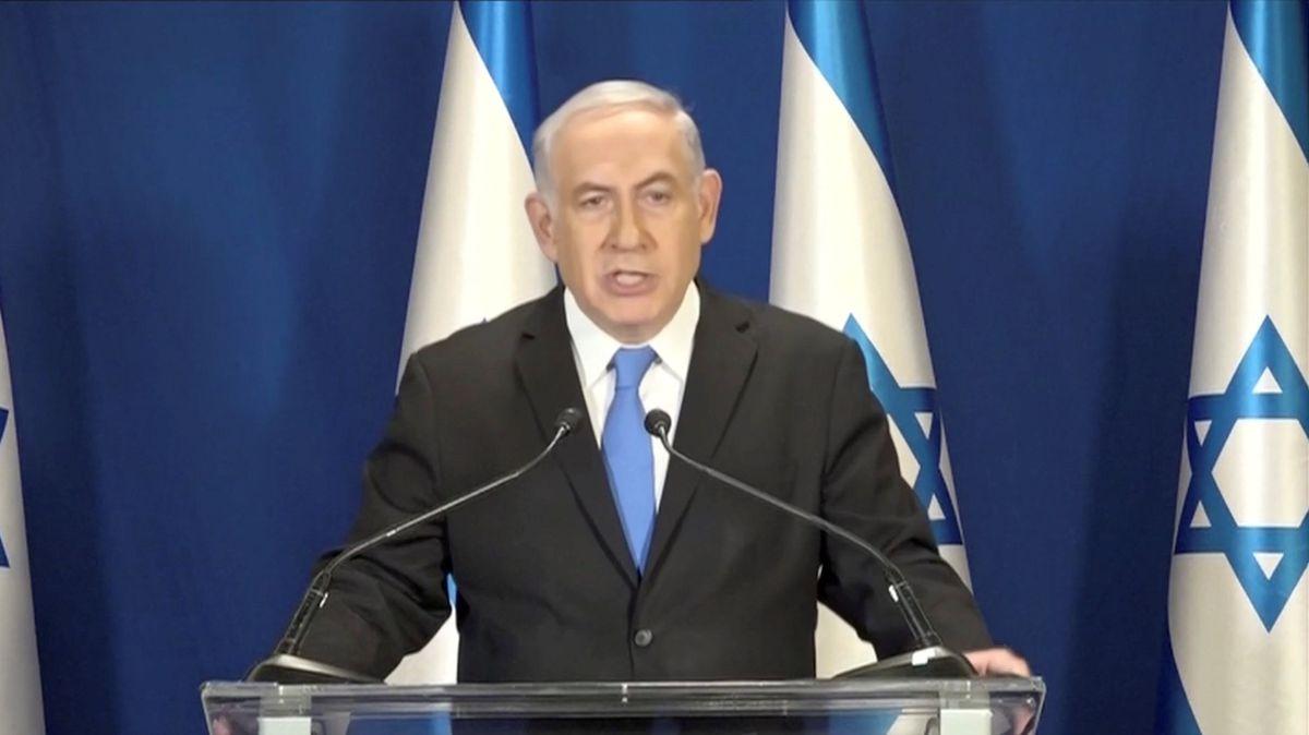 Israeli Prime Minister Benjamin Netanyahu in Jerusalem on Tuesday. Israeli Pool/via REUTERS