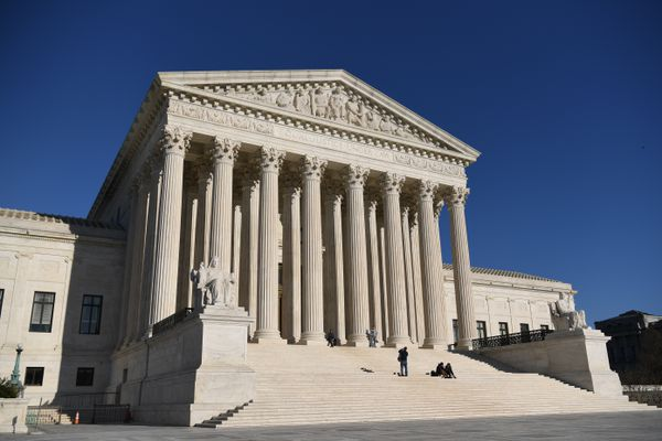 The U.S. Supreme Court building, a classical Corinthian style, was completed in 1935. MUST CREDIT: Washington Post photo by Jonathan Newton
