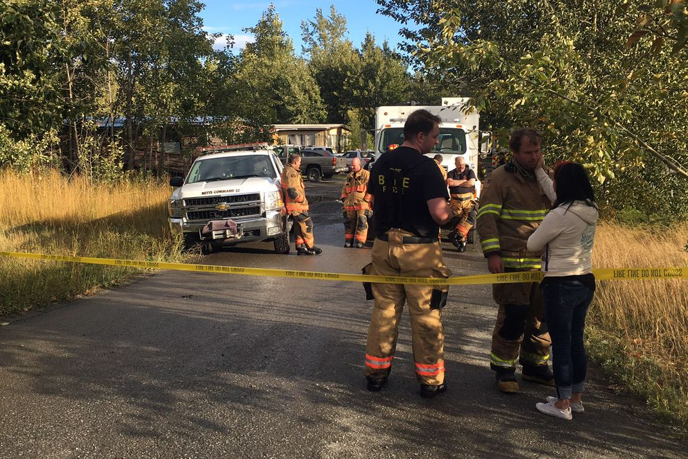 Five children died Thursday morning when a home in the Butte caught fire. (Zaz Hollander / Alaska Dispatch News)