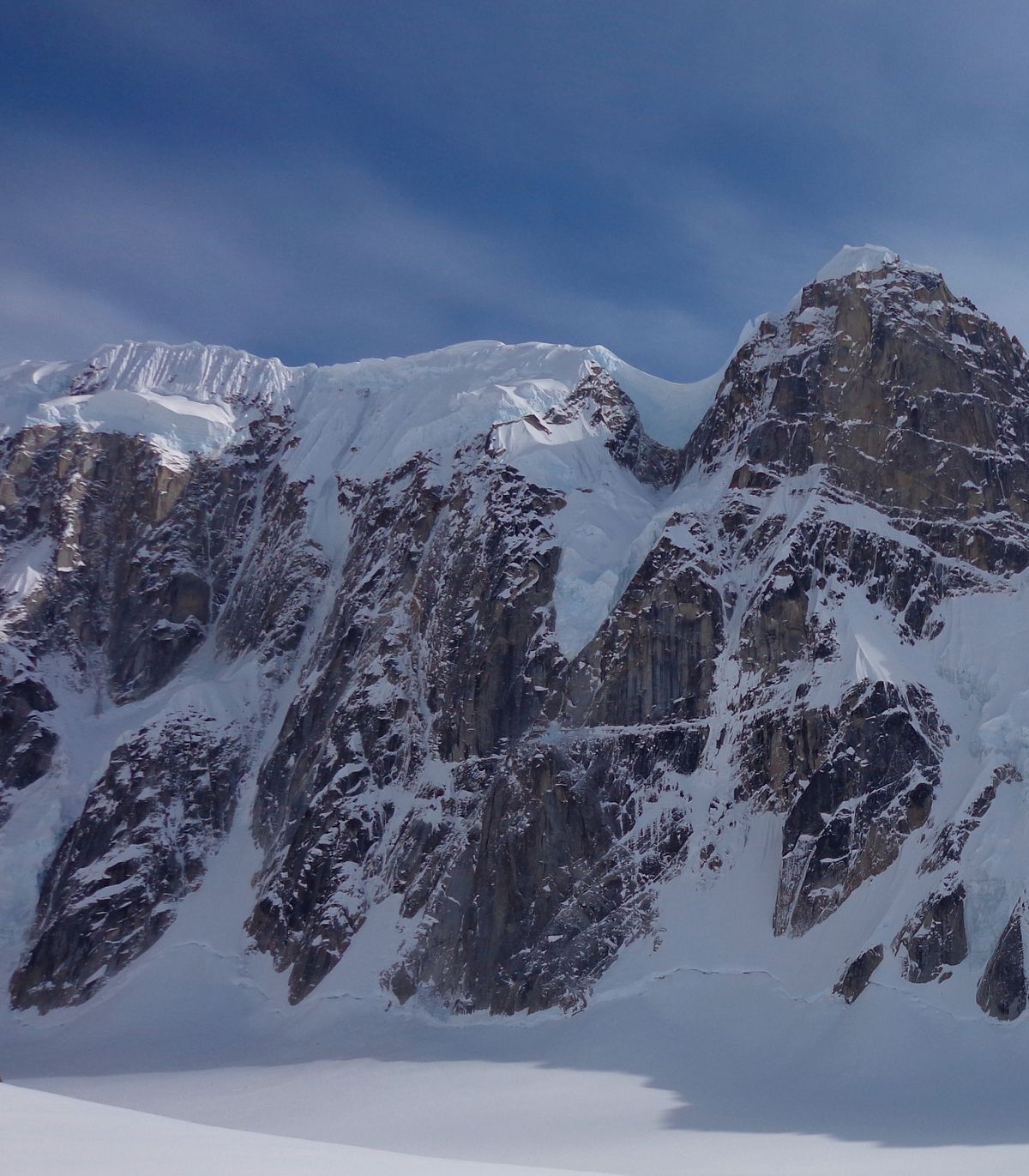 """The ridge in the Alaska Range unofficially known as """"Thunder Mountain"""" is believed to be the location of a K2 Aviation crash. The plane with four passengers and pilot went down Saturday, Aug. 4, 2018. (Photo courtesy of the National Park Service)"""