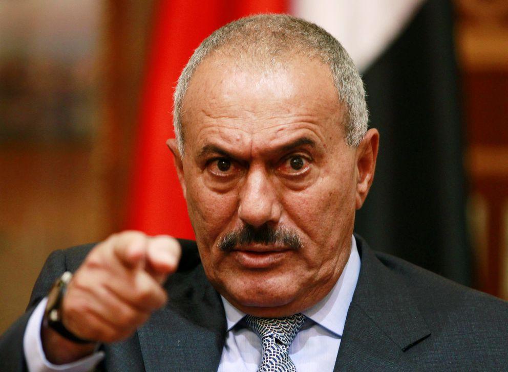 FILE: Yemen's then-President Ali Abdullah Saleh in Sanaa, May 25, 2011. REUTERS/Khaled Abdullah