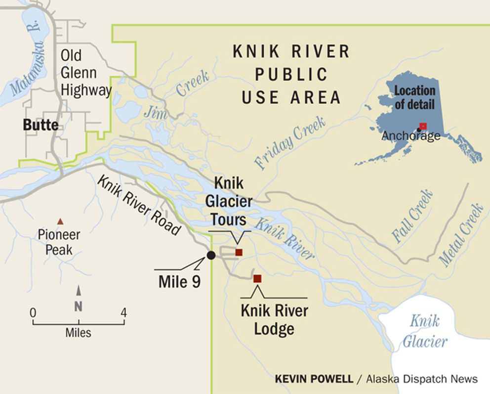 20 Mile River Alaska Map.Fat Tire Bikers Flock To Knik Glacier And Locals Take Note