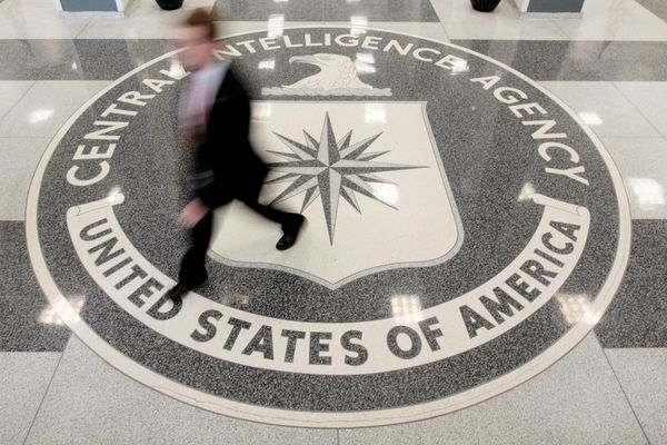 The lobby of the CIA headquarters in Langley, Virginia, on August 14, 2008. (Larry Downing / Reuters file)