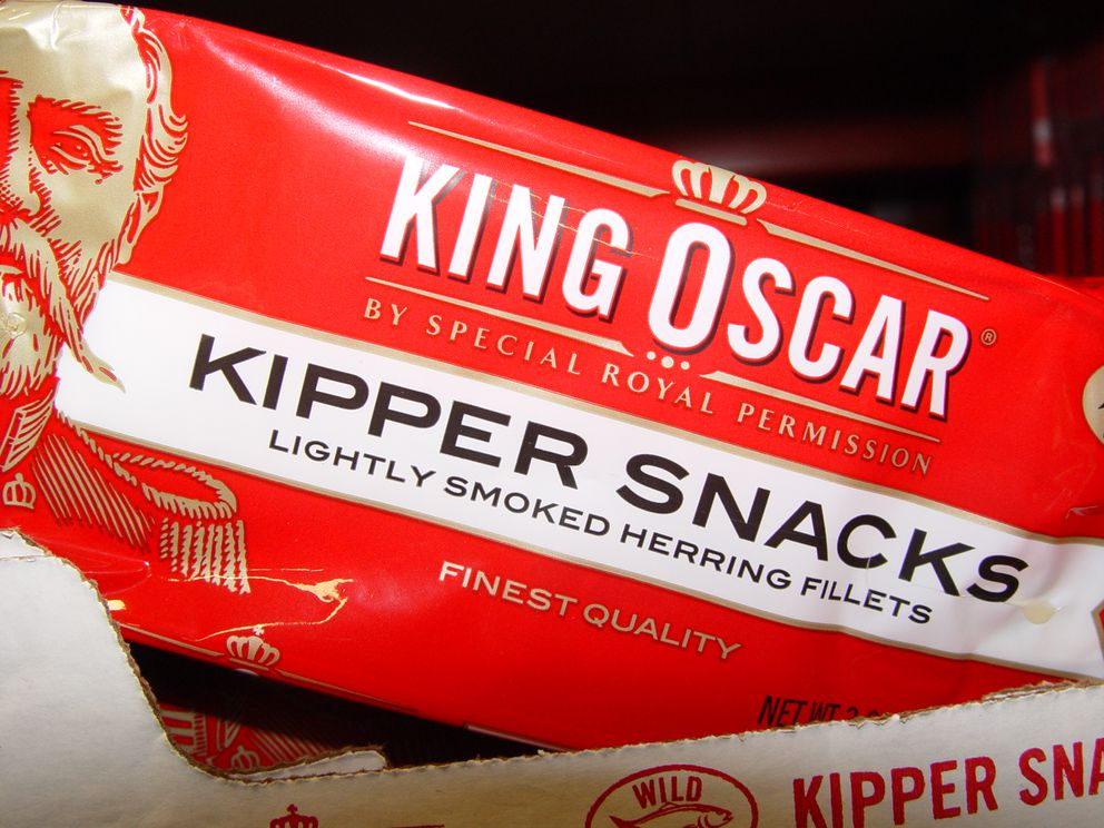 A good topping for Pilot Bread, the kippered snacks were not so great in scrambled eggs. (Steve Kahn)