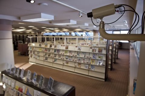 An bond request on the upcoming city ballot would provide more security cameras in the Loussac Library as well as upgrading existing cameras. Photographed March 15, 2018. (Marc Lester / ADN)