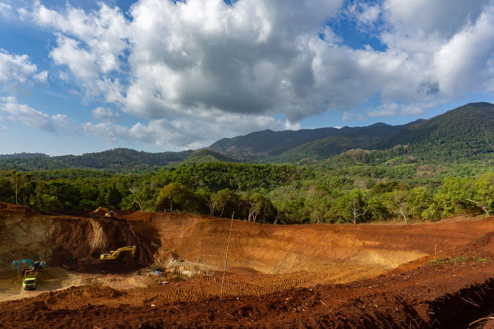 A nickel mine on Indonesia's Kabaena Island. MUST CREDIT: Photo by Ian Morse for The Washington Post.