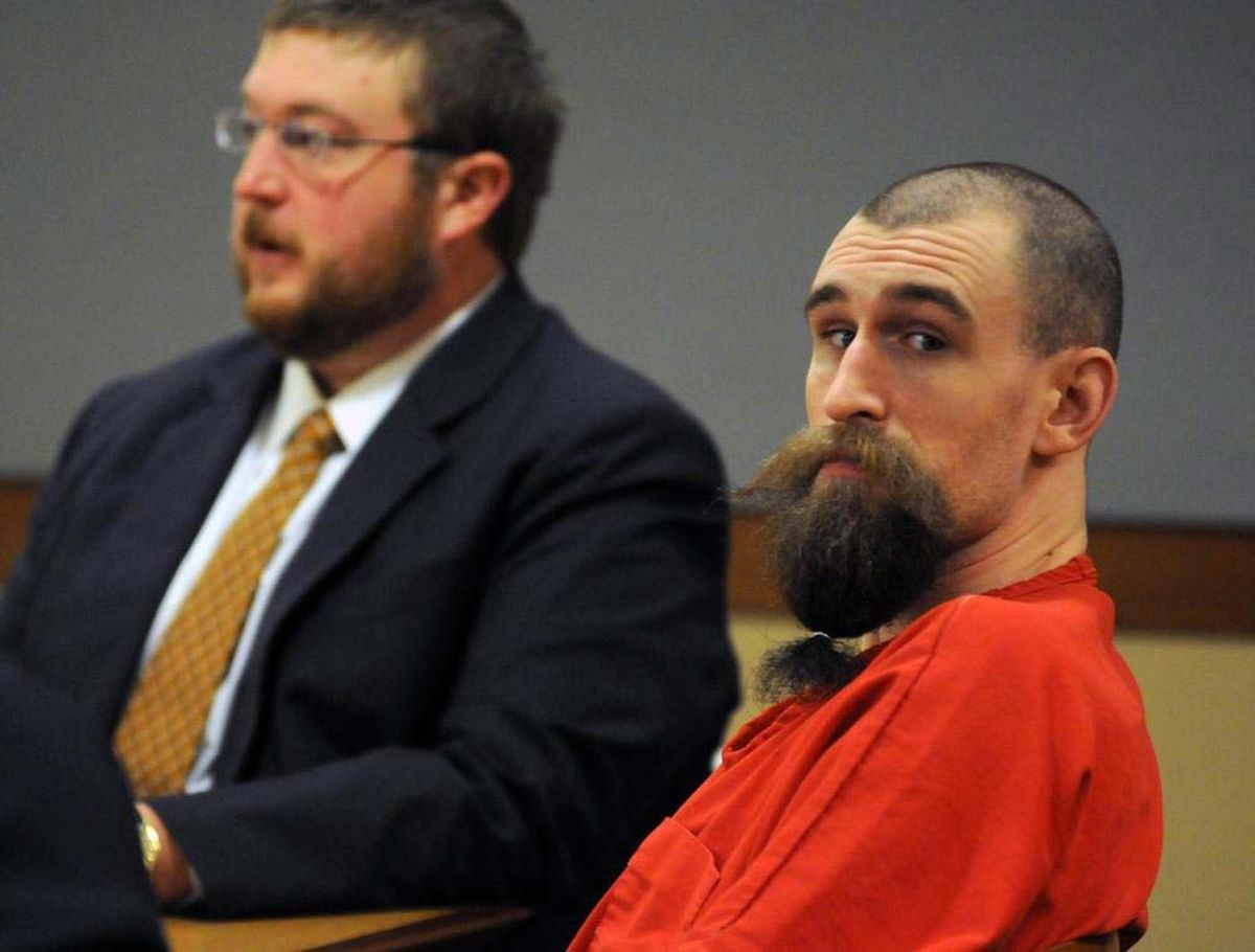 Christopher Erin Rogers, Jr., views the gallery as his trial for murder and attempted murder opens Tuesday March 24, 2009 at Nesbett Courthouse in Anchorage.