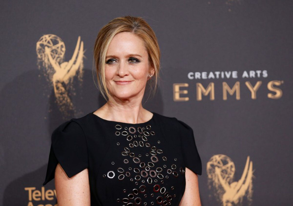 FILE PHOTO: Television host Samantha Bee poses at the 2017 Creative Arts Emmy Awards in Los Angeles, California, U.S. September 9, 2017. REUTERS/Danny Moloshok