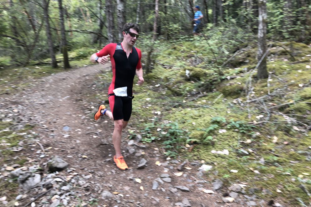 Will Ross, shown here in the final leg of XTERRA Victoria last month in British Columbia, ranks third in the Pan America XTERRA standings. (Photo by Allison Ross)