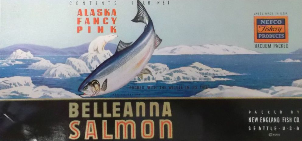 A sample Belleanna label kept in NEFCO files and never affixed to a can. (University of Washington, Special Collections)