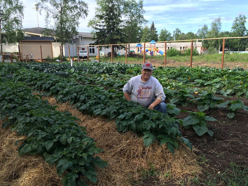 Don Bladow at the Lutheran Church of Hope's garden (Courtesy Don Bladow)